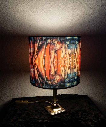 arty lampshade with mikrolux structures